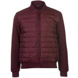 Pierre Cardin Mens Quilted Fleece Bomber Lightweight Jacket