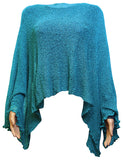 Ikat Ladies Crochet Lace Fish Net Batwing Poncho