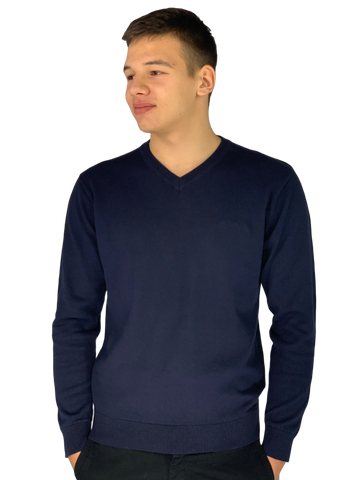 Pierre Cardin Mens New Season Essential V-Neck Knitted Jumper - Navy