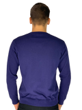 Pierre Cardin Mens New Season Essential V-Neck Knitted Jumper-COBALT