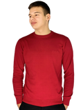 Pierre Cardin Mens New Season Essential Crew Neck Knitted Jumper - Berry