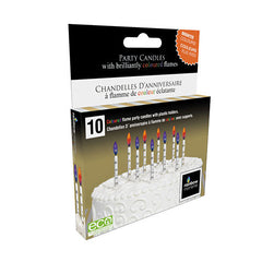 Metallic Printed Colour Flame Candles (10-pack)