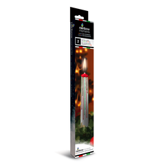 Christmas Candle - White with Red & Green Drip