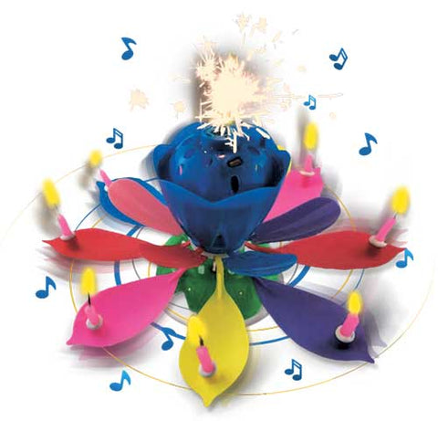 Musical Blooming Birthday Candle