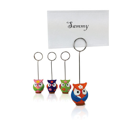 Hand-Painted Owl Placecard Holders