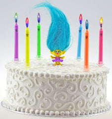 Troll-Themed Colored Flame Candles