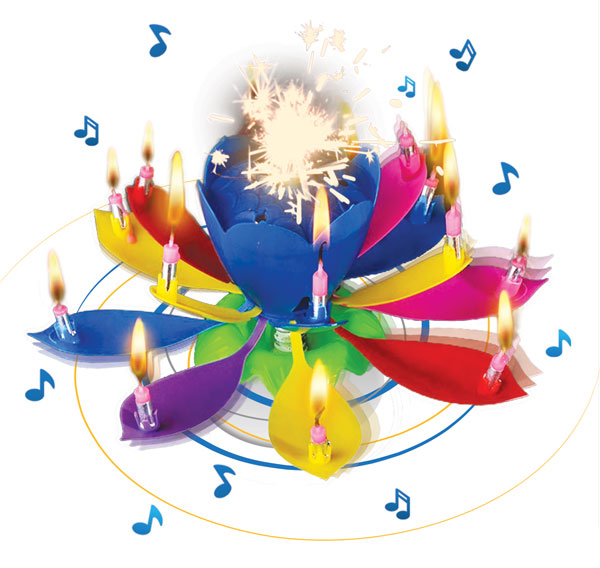 Musical Blooming Birthday Candle 14 Candles