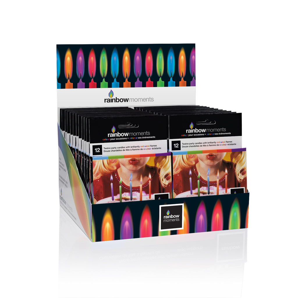 Color Flame Candle Display