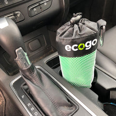 EcoGo bags fit in car cup holder
