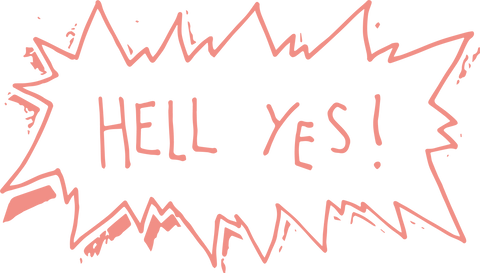 Hell Yes Illustration and typography