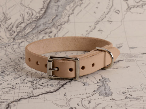 TAN DOG COLLAR - SMALL