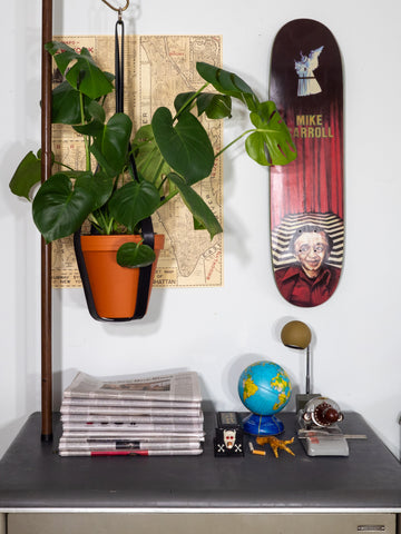 LARGE BLACK PLANT HANGER