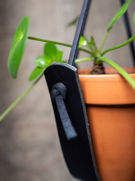 SMALL BLACK PLANT HANGER