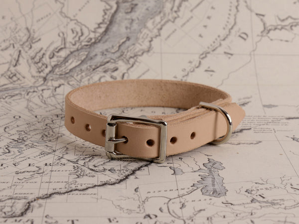 TAN DOG COLLAR X-SMALL