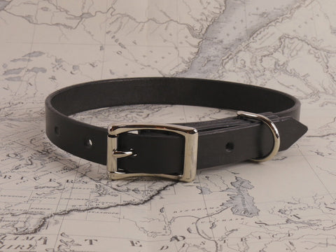 BLACK DOG COLLAR - MEDIUM