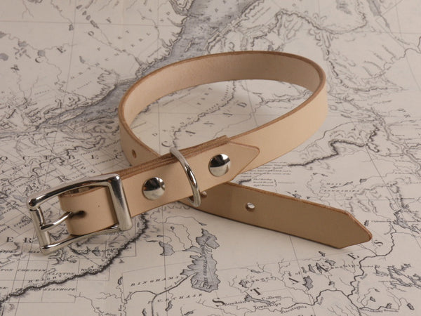 TAN DOG COLLAR - MEDIUM