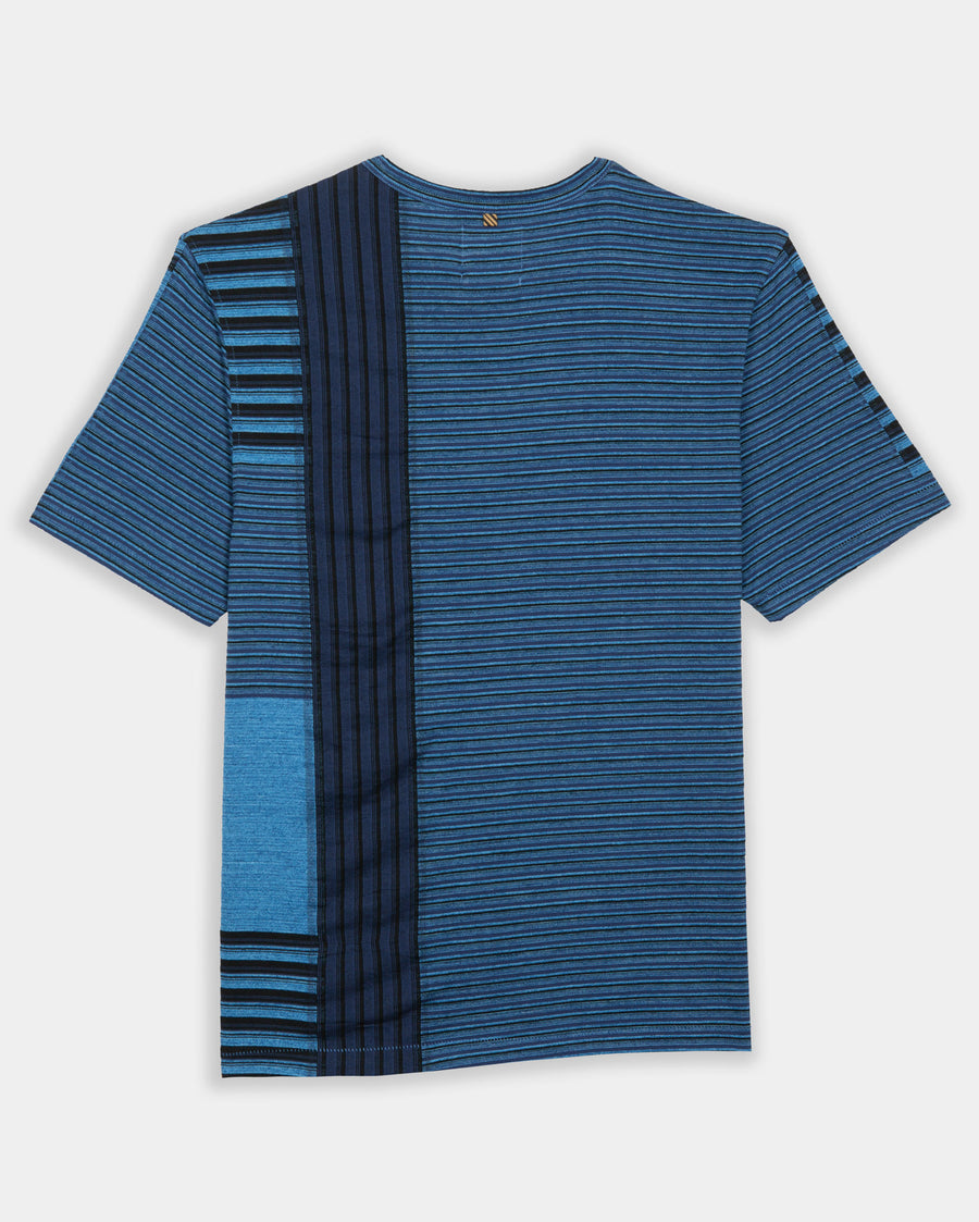 INDIGO PATCH STRIPE TEE