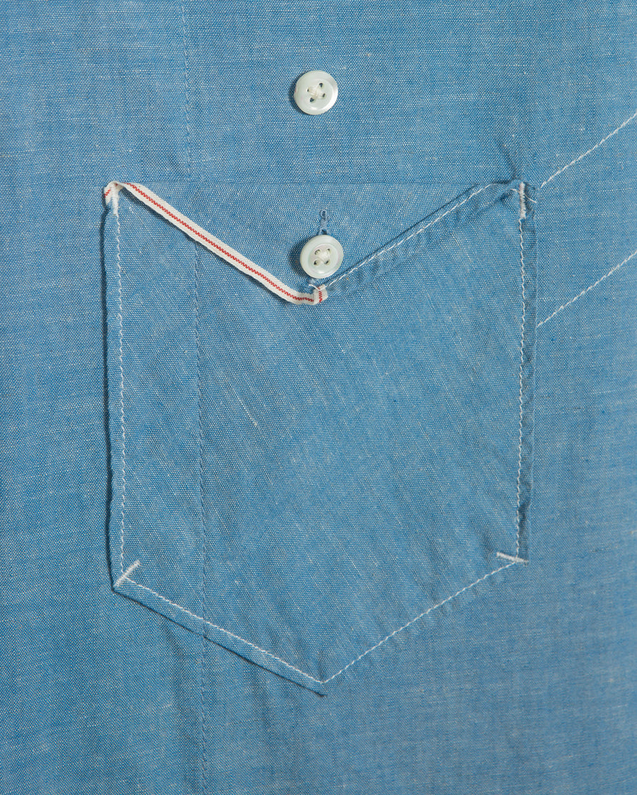 SELVEDGE S/S CAMP SHIRT