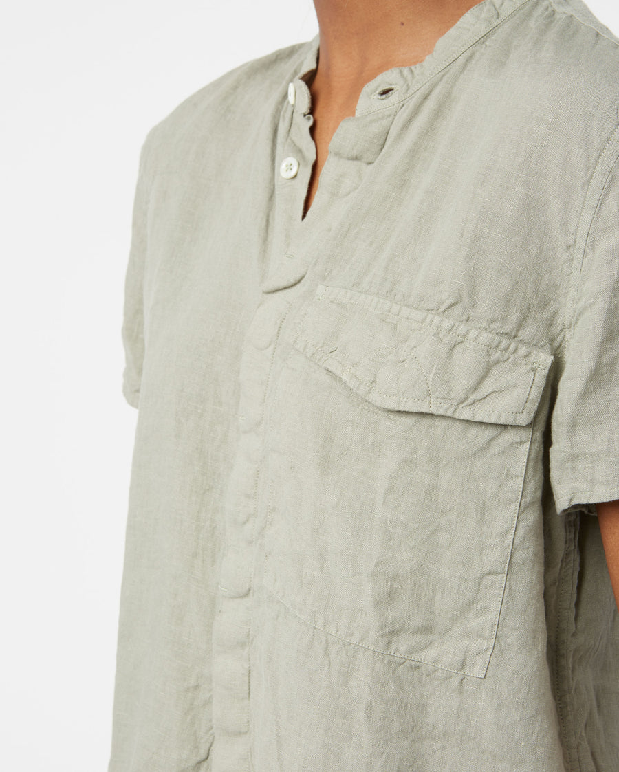 WASHED LINEN SHORT SLEEVE SHIRT