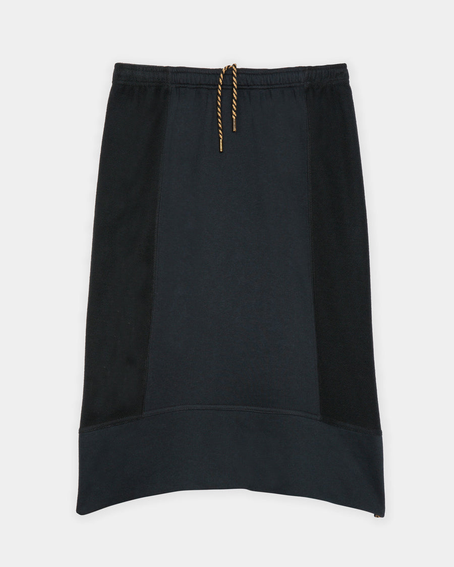 PANELED TERRY KNIT SKIRT