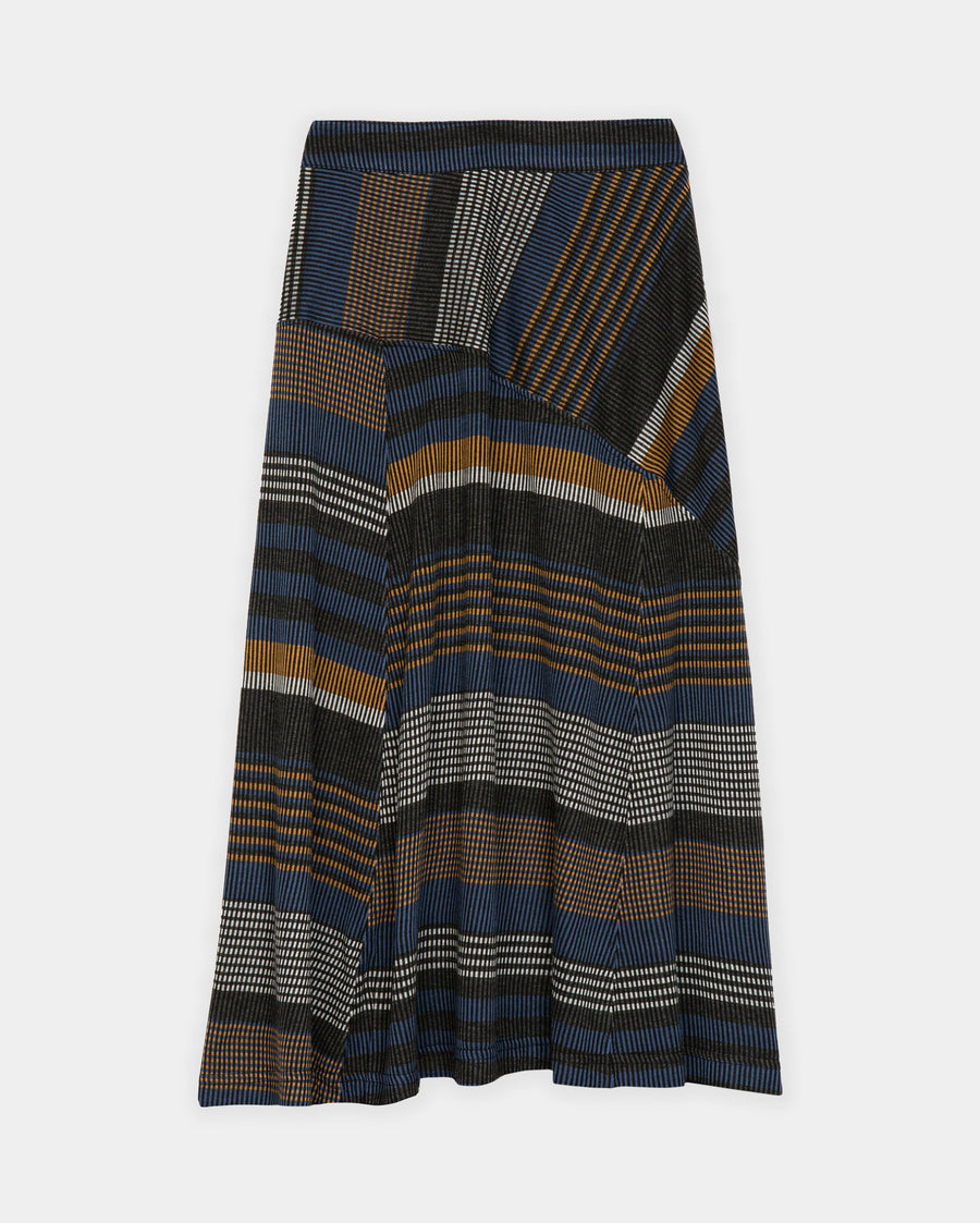CONTRAST STRIPE ASYMMETRIC SKIRT