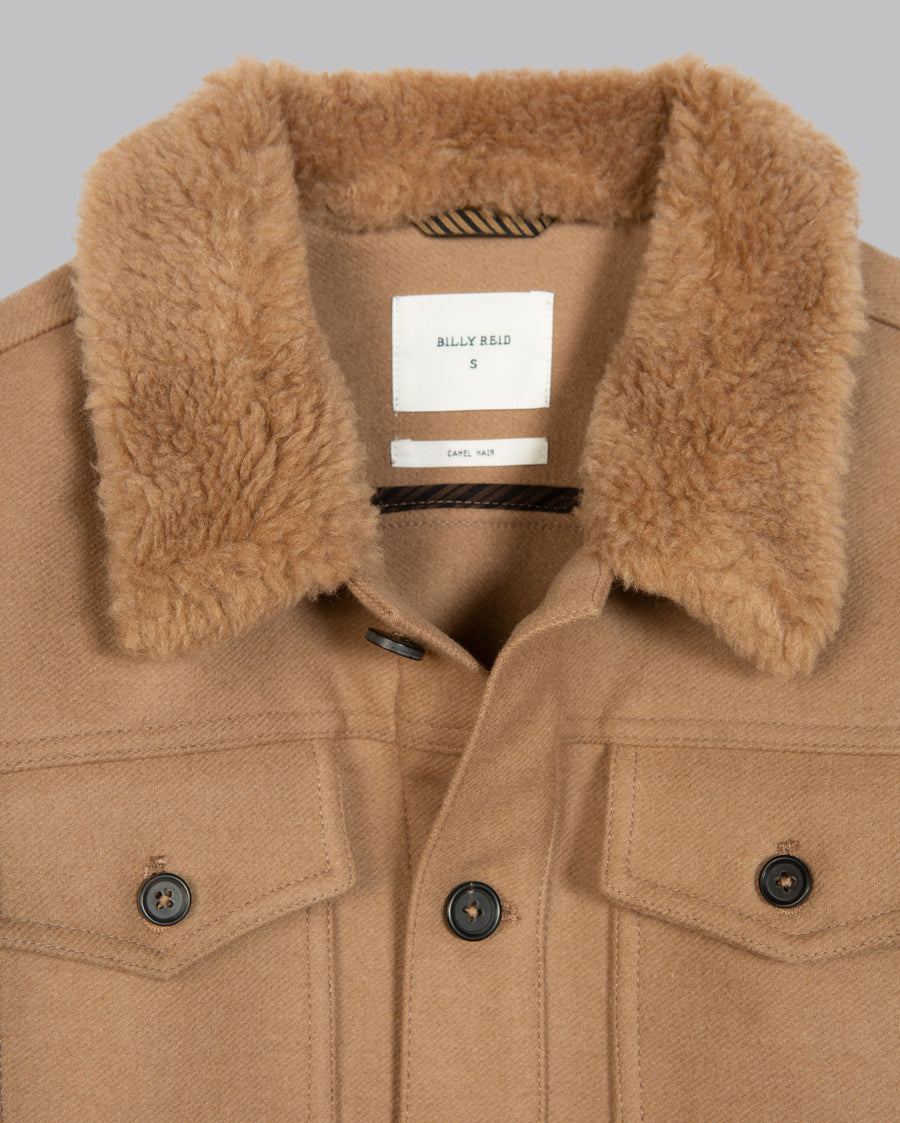 CAMEL HAIR TRUCKER JACKET