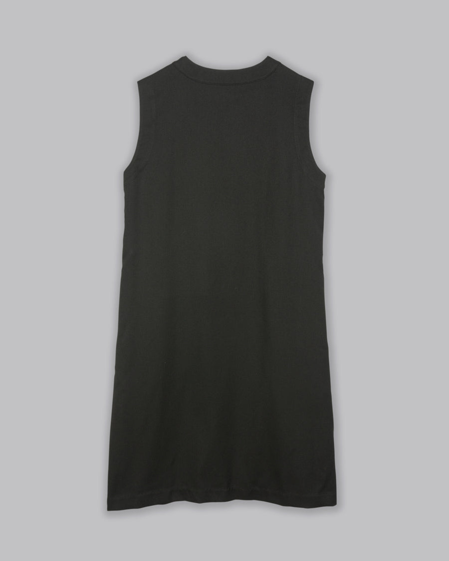 ASYMMETRIC V NECK DRESS