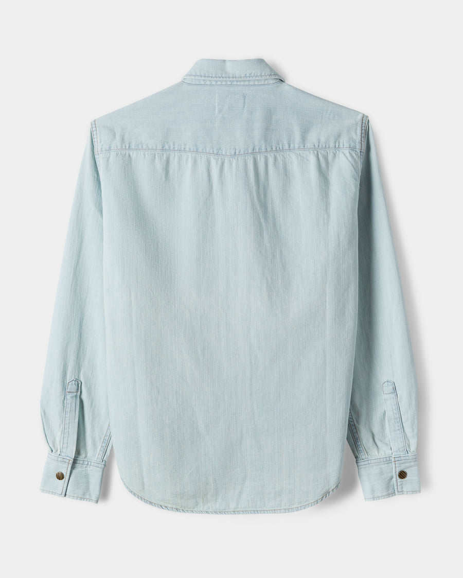 DENIM SHIRT BLEACH WASH