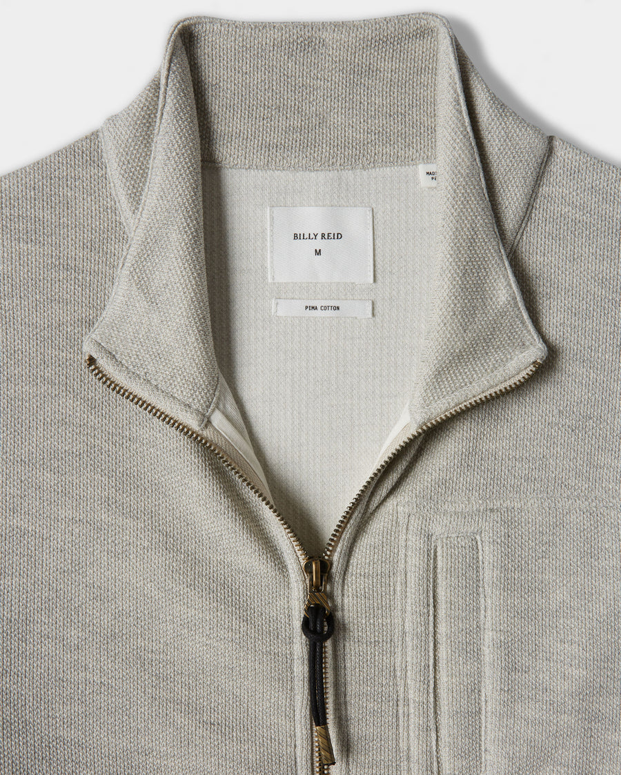 PIMA COTTON PIQUE JACKET