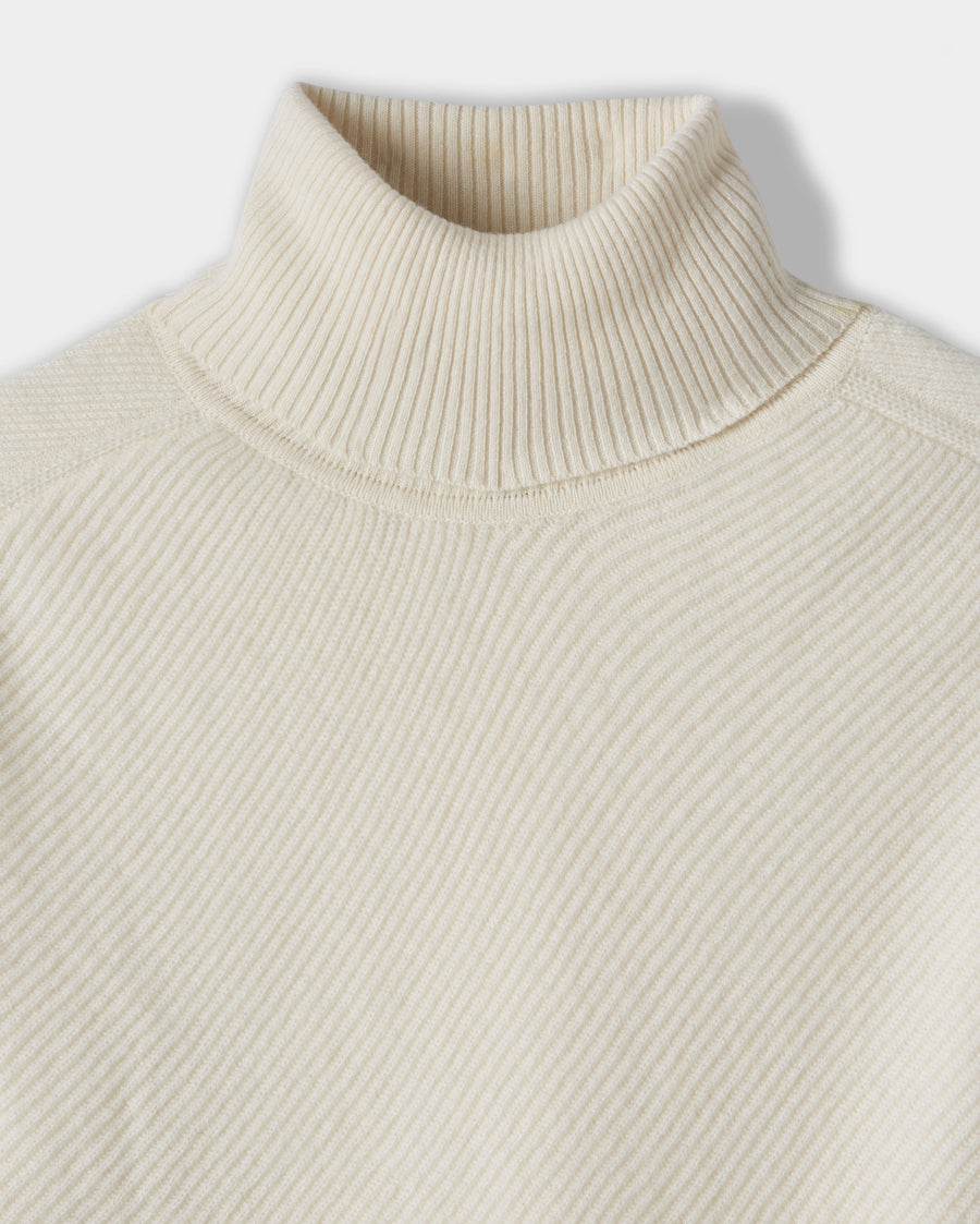 TEXTURED CASHMERE TURTLENECK