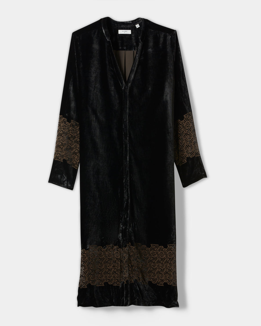 VEGA VELVET BURNOUT DRESS
