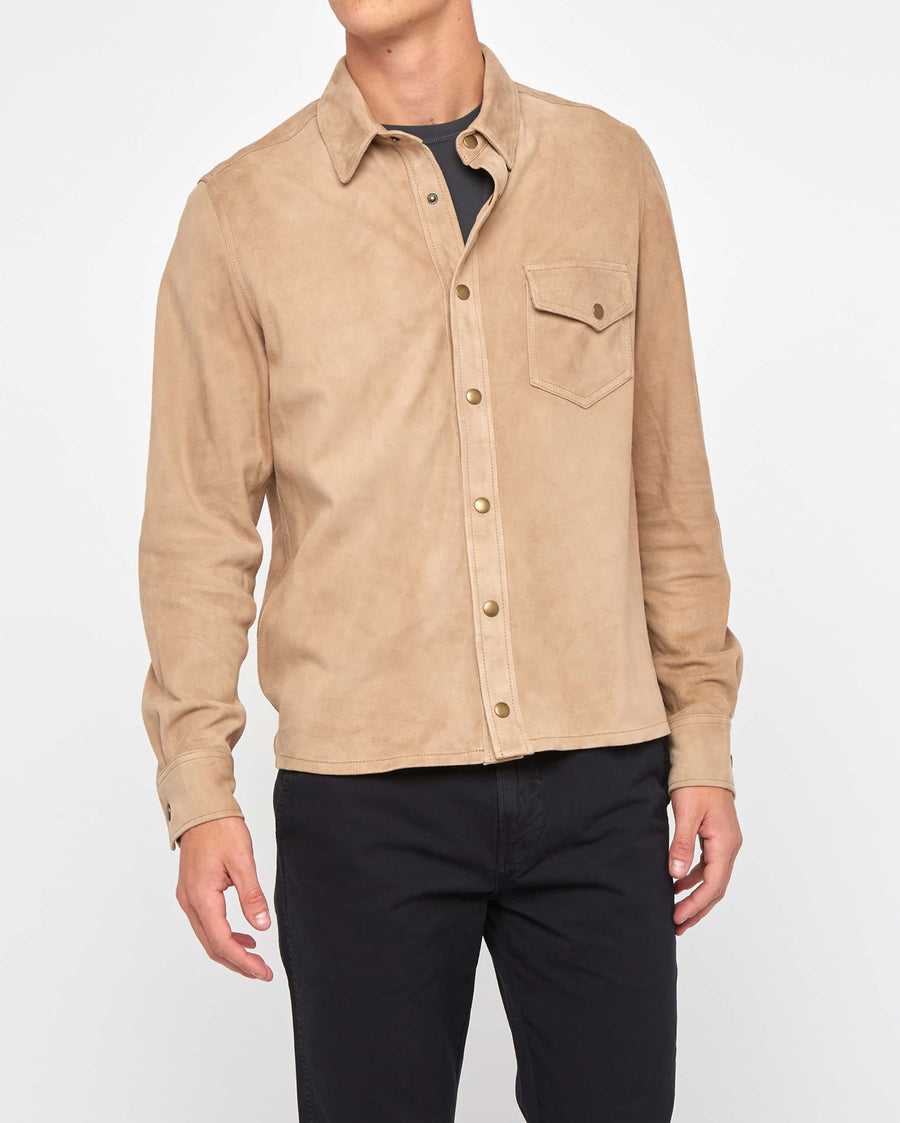 ONE POCKET SUEDE SHIRT