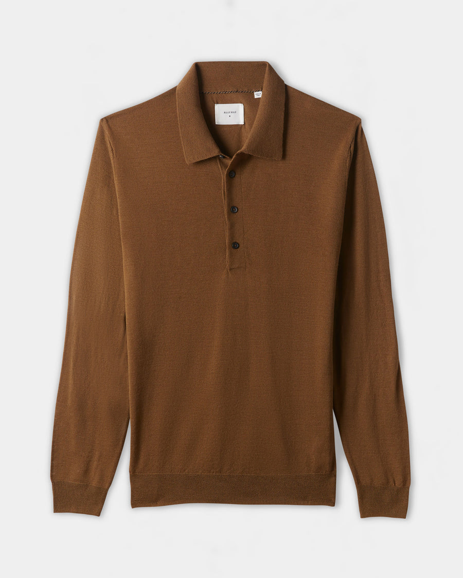 FINE GAUGE SWEATER POLO