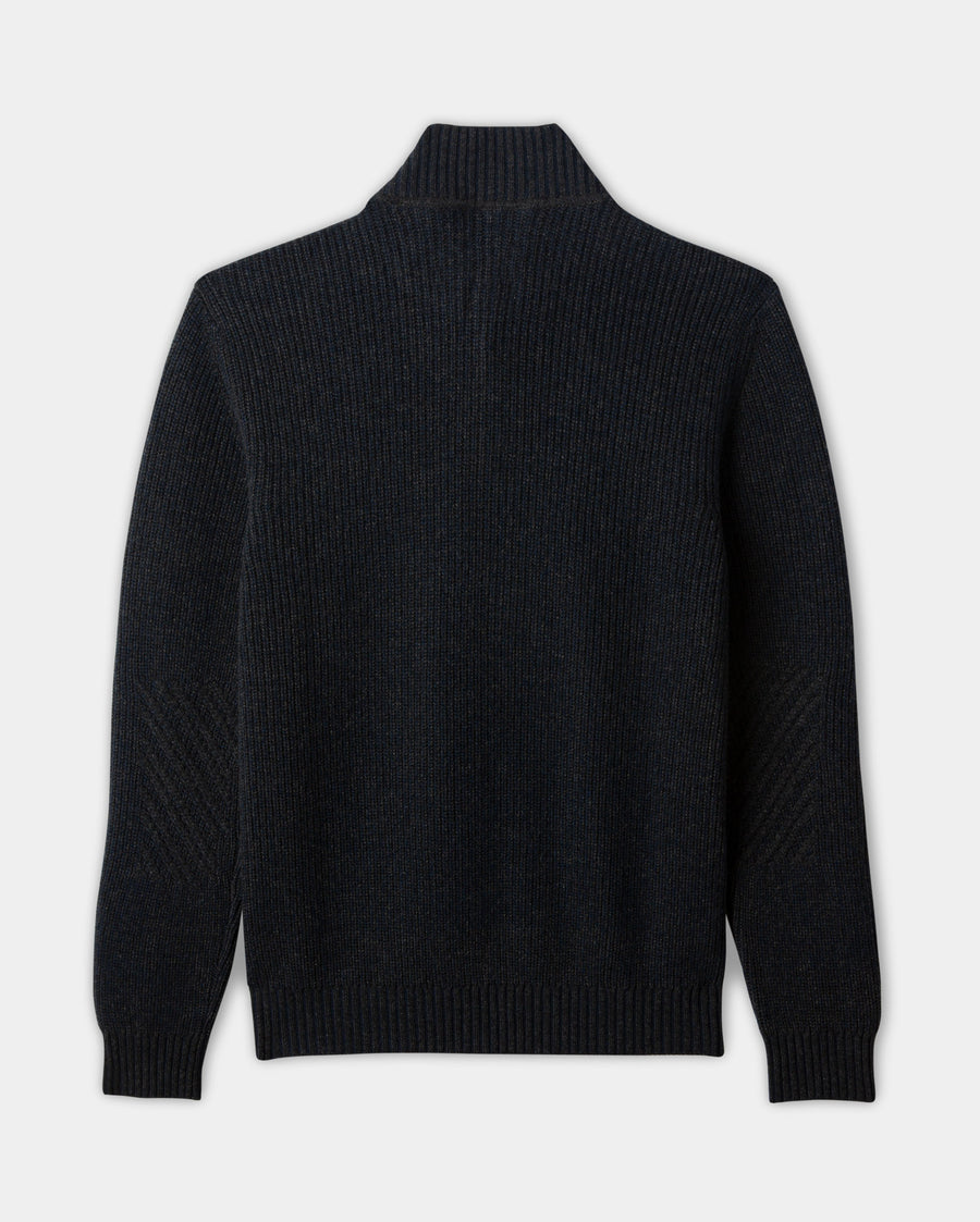 CASHMERE BUTTON PULLOVER