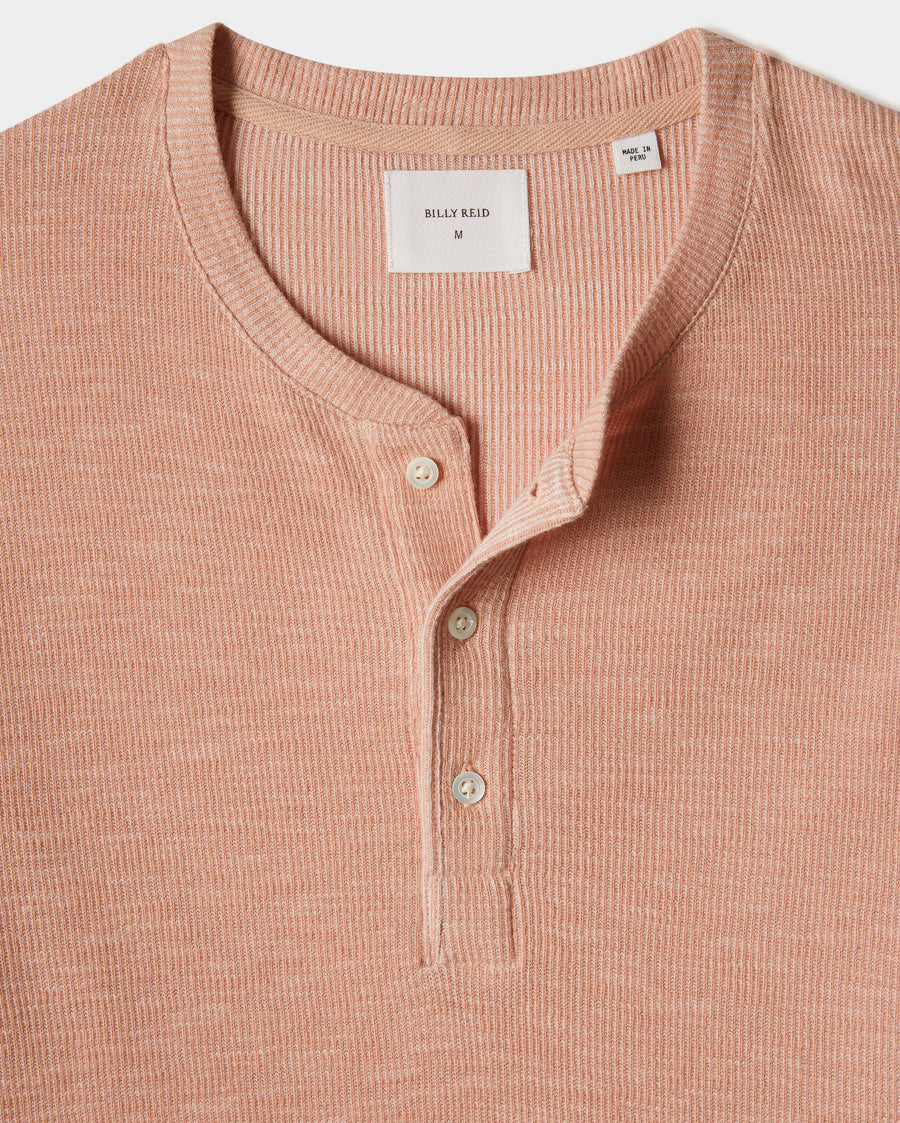 SLUB COTTON S/S HENLEY