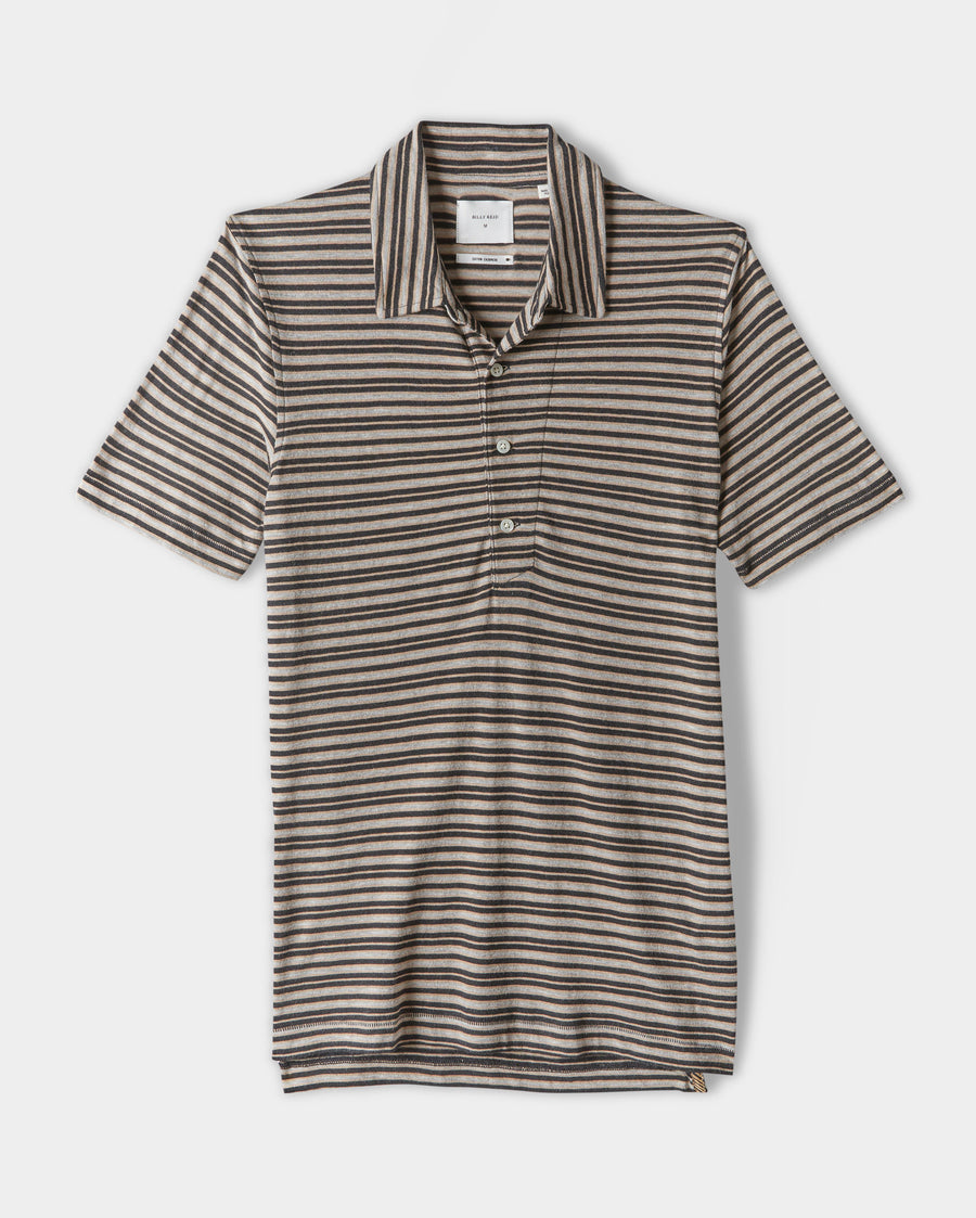 STRIPED PIMA COTTON POLO