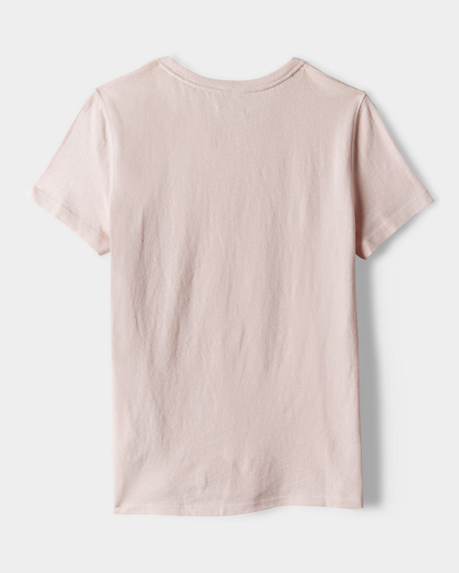 COTTON LINEN FITTED TEE