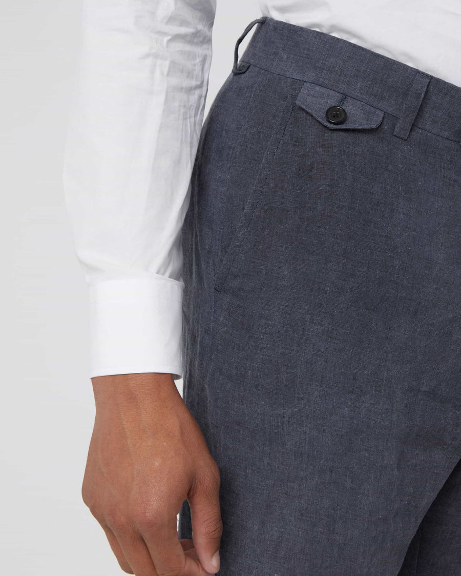 LINEN PLEATED TROUSER