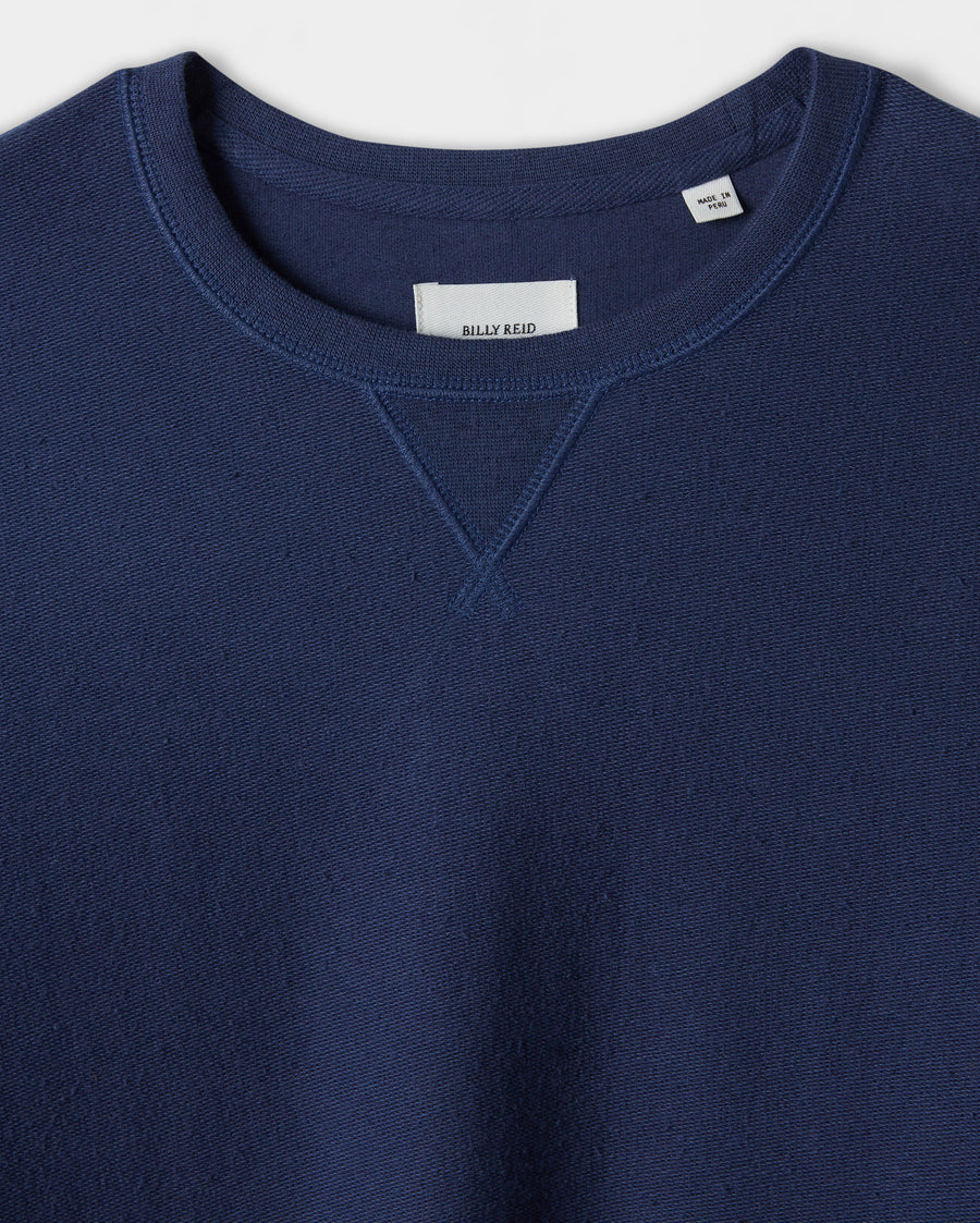 COTTON LINEN TERRY CREW