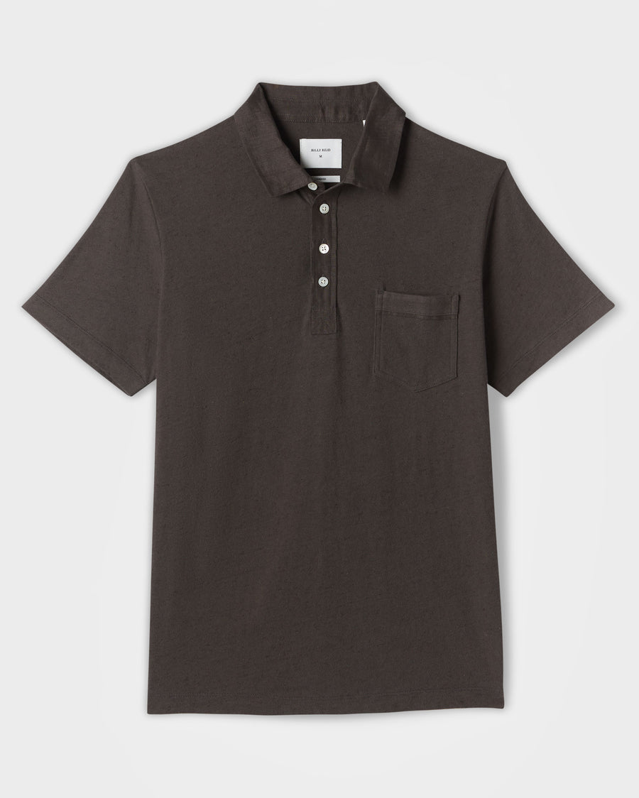 COTTON LINEN POLO