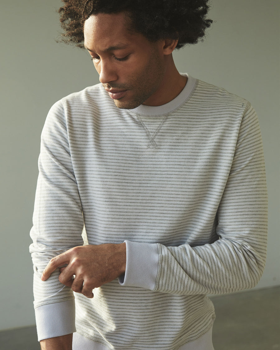 Billy Reid Striped Cotton Crewneck