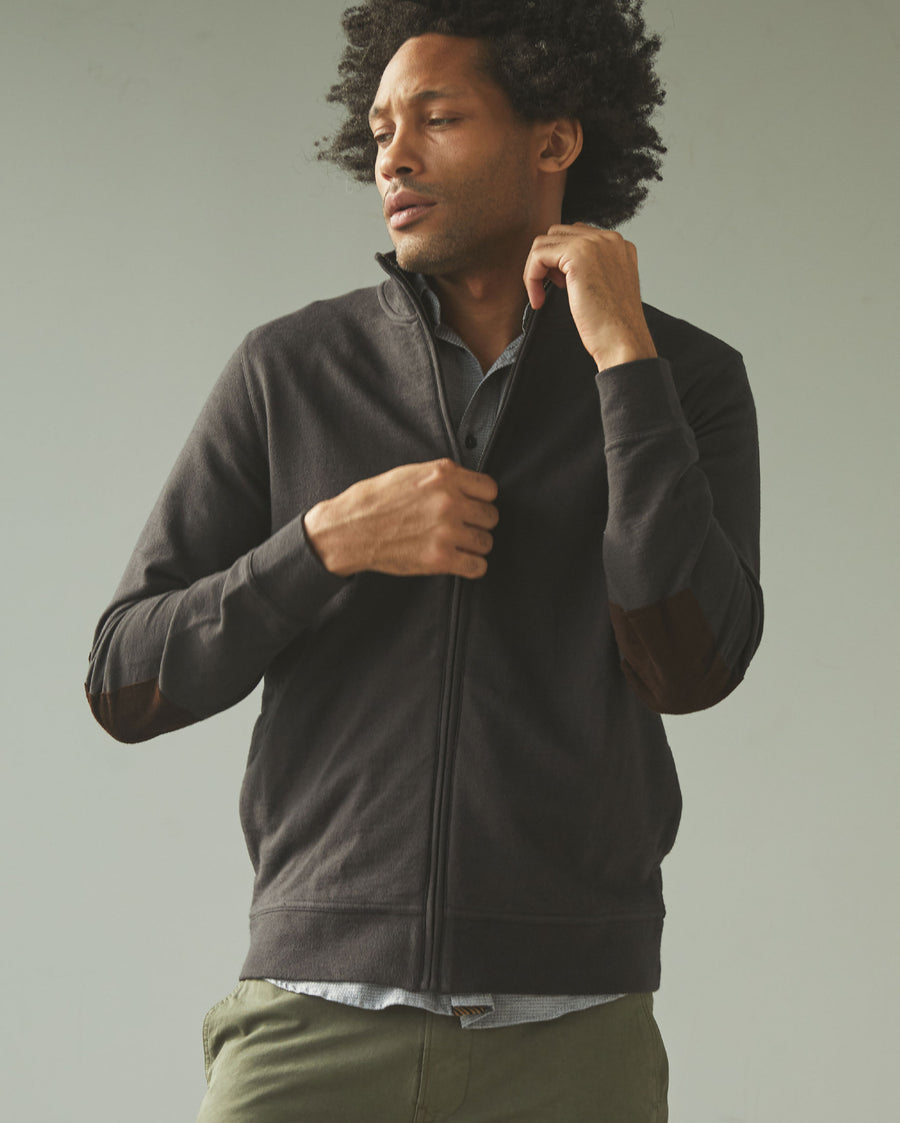 COTTON LINEN TRACK JACKET