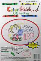 Color Stitch Kit for Kids - Sally (Homework Hurts)