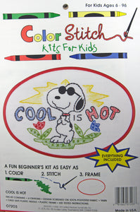 Color Stitch Kit for Kids - Joe Cool (Cool Is Hot)