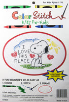 Color Stitch Kit for Kids - Snoopy (I Love This Place)