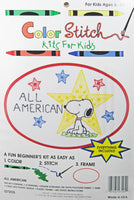 Color Stitch Kit for Kids - Snoopy (All American)
