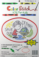 Color Stitch Kit For Kids - Save Our Planet