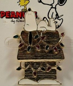 Snoopy's Decorated Doghouse Pin