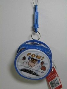 Charlie Brown Vinyl Key Chain Purse + Wash Cloth