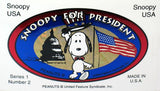 Snoopy For President Series 1 No. 2 Vinyl Sticker